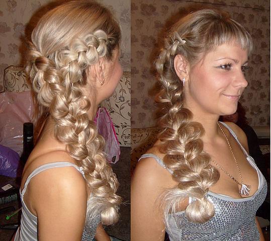 новогодние прически на длинные волосы с косичками